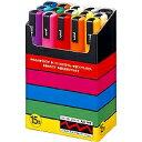 三菱鉛筆 サインペン ポスカ 中字15色セット PC5M 15C
