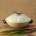 土楽窯の土鍋 ねぎぼうず鍋(無地)8寸 【伊賀焼】【土鍋】【蓋付き】【福森雅武】