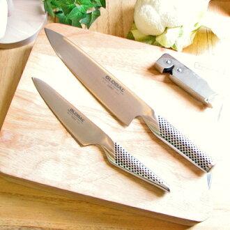 GLOBAL, global knife gift set of 3 (sledgehammer, paring knife, new スピードシャープナー) B-SET fs3gm