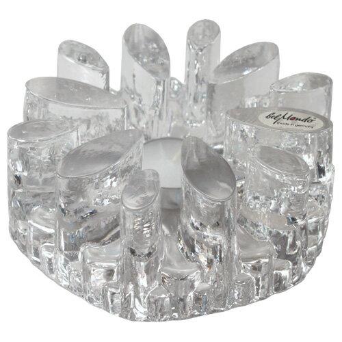 ドイツ ベルモンド社製 ガラス キャンドルウォーマー 菊型(大)