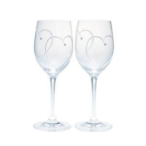 ウェッジウッド プロミシス 『トゥー ハーツ』 ワイングラス ペアギフトセット