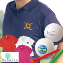 お名前入りゴルフポロシャツ&ゴルフボール3個セット [ 誕生日プレゼント 男性 イラスト お名前印刷 プレゼント お名前入りゴルフ 父の日 ]10P03Dec16