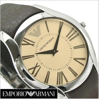 Emporio Armani EMPORIO ARMANI men's watch ( brown dial-leather belt Emporio Armani AR2041