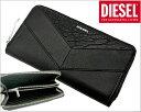 ディーゼル DIESEL 長財布 ラウンドファスナーウォレット 牛革×羊革・ブラック/メンズ ディーゼル DIESEL X03687-P0804-T8013