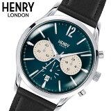 【ヘンリーロンドン】HENRY LONDON 腕時計 41mm クロノグラフ メンズ 牛革ベルト ネイビーブルー x グレーヘンリーロンドン HENRY LONDON ナイツブリッジ Knightsbridge HL41-CS-0039