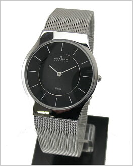 ( Skagen ) in SKAGEN mens ultra slim Watch (mesh belt black letter Edition) 57% off 233LSSB