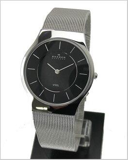 ( Skagen ) in SKAGEN mens ultra slim Watch (mesh belt black letter Edition) 57% off 233LSSB