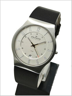 SKAGEN (scar gene) men's watch (leather belt silver clockface) 233XXLSLC SKAGEN (scar gene)