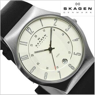 SKAGEN (scar gene) men's watch (leather belt silver clockface) 233XXLSLC SKAGEN (scar gene)