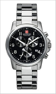 It is 20%OFF ML -283 SWISS MILITARY (the Swiss military) chronograph watch classical music black clockface (male business) (regular article)
