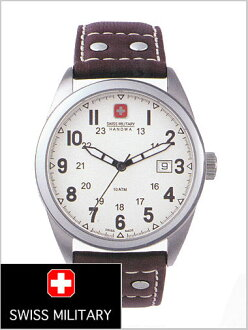 ( swismiglitary ) SWISS MILITARY watch classic Swiss military leather belt and White Dial (for men) genuine, 20% off ML-302