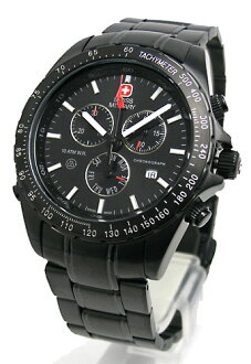 Watches SWISS MILITARY ブラックナビゲーター black dial (men) (regular products) ML-201B