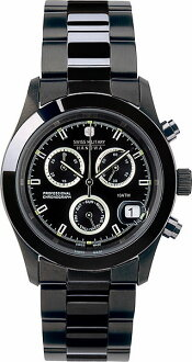 SWISS MILITARY ( swismiglitary ) PVD BLACK ビッグクロノ black dial (men) genuine, 20% off ML-247
