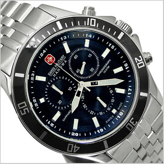 ( swismiglitary ) SWISS MILITARY Chronograph Watch-20% off ML-320 FlLAG SHIP ( flagship ) black dial (for men)