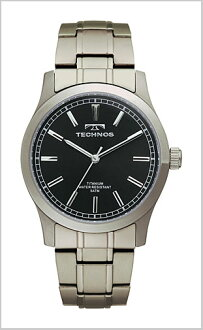 TECHNOS ( technos ) titanium watch (men's / black letter Edition) T1079IB