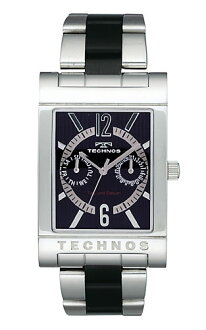 (regular article) T2046TB for TECHNOS (テクノス) multi-function watch, lindera board, silver index / men