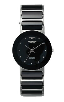TECHNOS ( technos ) stainless steel x ceramic belt watch-black dial / men's genuine, TBM674TB