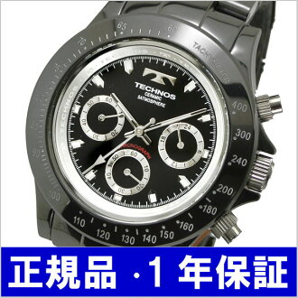 テクノス TECHNOS watch chronograph men ceramic / black T1-B