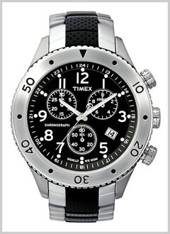 TIMEX ( Timex ) rubber T series City Sport, Chronograph and stainless steel x belt genuine, T2M706