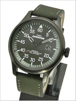 TIMEX ( Timex ) エクスペティション ミリタリーフィールド-vintage dark green leather genuine, T49877