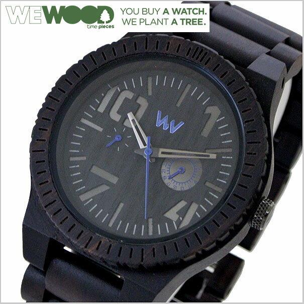 WEWOOD ウィーウッド OBLIVIO ブラック 腕時計 天然木製(ナチュラルウッド) マルチカレンダー ユニセックス/男女兼用 9818081【送料無料】 【WEWOOD ウィーウッド 国内正規品 1年保証】