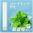 ARASHI FLEVO互換 電子タバコ カートリッジ スーパーハードミント味 大容量 1.0ml 約300口/個 5個入り [510 Lite/パールホワイト]