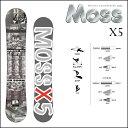 17-18 MOSS モス スノーボード X5 バイファイブ