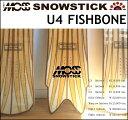 17-18 MOSS SNOWSTICK モス スノースティック スノーボード U4 ユーフォー 151cm FISHBONE フィッシュボーン 限定モデル