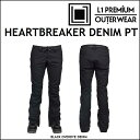 17-18 L1 エルワン ウエア HEARTBREAKER DENIM PANTS ハートブレイカー デニム パンツ BLACK DENIM L1TA リタ レディース align=