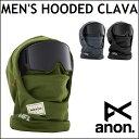 16-17 ANON アノン ビーニー MENS MFI HOODED CLAVA メンズ フードクラバ フードウォーマー