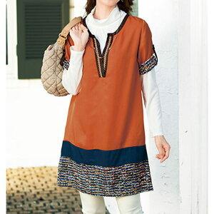 ツイード プリント チュニック ベルーナ レディース ファッション