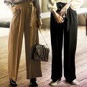 ショッピングサッシュベルト ●SALE!!セール●サッシュベルト付ワイドパンツ ベルーナ Ranan ラナン 40代 50代ファッション レディース 在庫処分 アウトレット ゆったり 【在庫残りわずか】