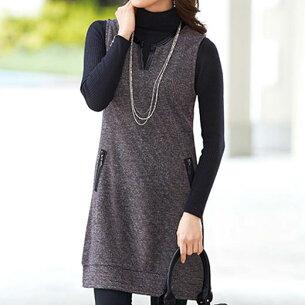 ツイード ジッパー ジャンパー ベルーナ レディース ファッション