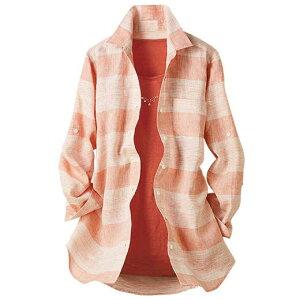 フレンチリネンオーバーブラウス ベルーナ レディース ファッション