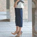 ほのかなテ—パードシルエットときれいめな素材で女っぽくはけるカーゴパンツ。カーゴパンツ ベルーナ ラナン Ranan 30代 40代 ファッション レディース