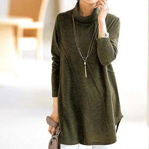 チュニック デザインフレアーチュニック ベルーナ レディース ファッション