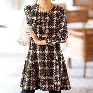チュニック フレアーシルエットプリントチュニック ベルーナ レディース ファッション