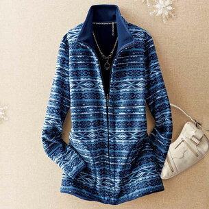 フリースリバーシブルジャケット ベルーナ レディース ファッション アイテム