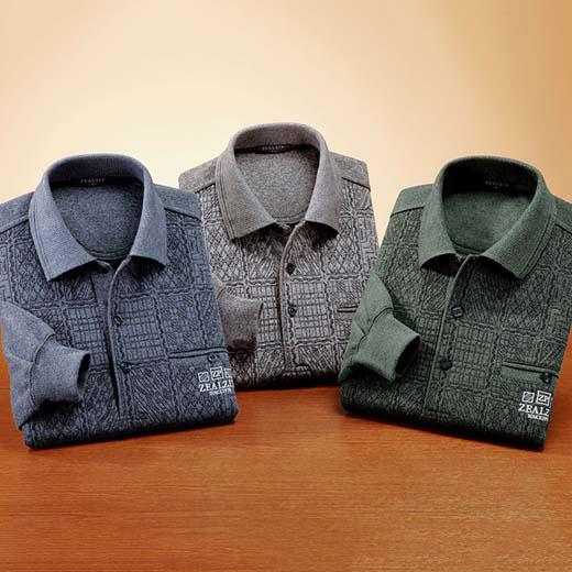 ジャカード編厚地ポロシャツ3色組 ベルーナ【40代 50代 60代 メンズ 紳士 男性 ファッション】
