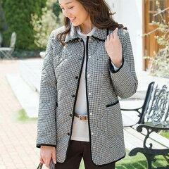 軽量中わたキルトジャケット(3L?5L) ベルーナ 40代 50代 60代 レディース ミセス ファッション 大きいサイズ 秋 冬 あったか