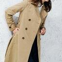 ハーフコート M LL L 3L美シルエットトレンチコート ベルーナ 30代 40代 ファッション ...