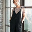 オーバーオール3L細ストラップサロペット(3L) ベルーナ ラナン Ranan 夏 30代 40代 ファッション レディース 女性 大きいサイズ オーバーオール レディース 女性
