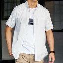 シャツアンサンブル M LL L 【2点SET】ドットプリント半袖シャツアンサンブル(M〜LL) ベルーナ 40代 50代 60代 紳士 ファッション シャツ アンサンブル メンズ男性