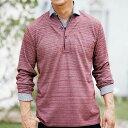 ポロシャツ 5L 4L 3L ヘンリーネック重ね着風ポロシャツ(3L〜5L) ベルーナ 40代 50代 60代 メンズ 紳士 男性 ファッション
