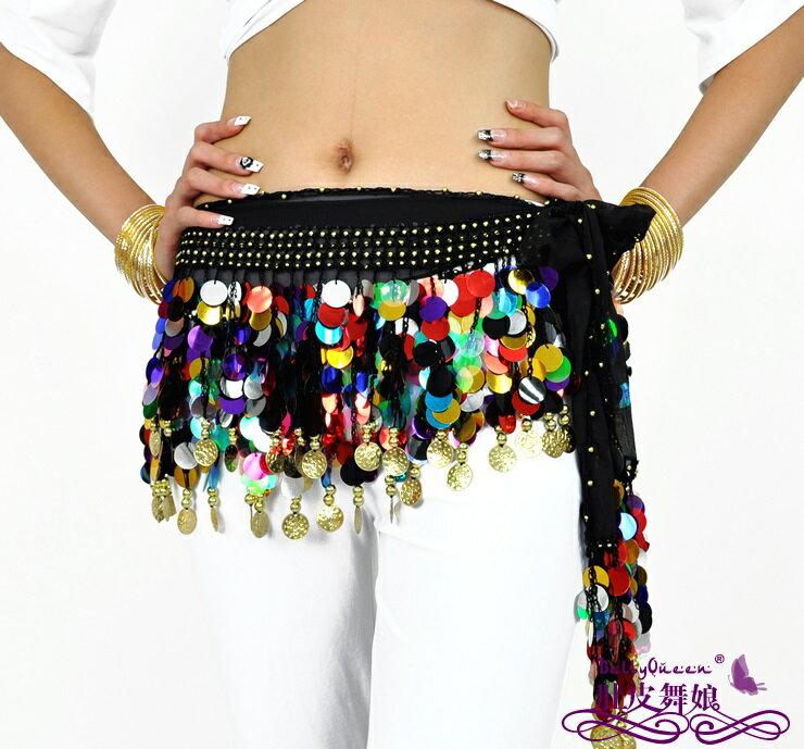 【664】ベリーダンス ヒップスカーフシフォン・ヒップスカーフ ブラックダンス衣装/コスプレ衣装/ステージ衣装/仮装/余興/アラビアン衣装