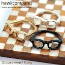 Hawk company ホークカンパニー リング『遊び心溢れる眼鏡リング6318』指輪 かわいい指先 リング レディース 指輪 アクセサリー トレンド 人気 ...