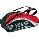 ラケットバッグ6(リュック付き) テニスラケット6本用 BAG1612R [カラー:ブラック×レッド] #BAG1612R-187 【ヨネックス: スポーツ・ア...