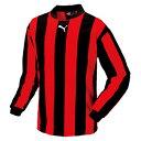 【プーマ】 ストライプ長袖ゲームシャツ [カラー:ブラック×レッド] [サイズ:L] #903296-04 【スポーツ・アウトドア:サッカー・フットサル:メンズウェア:シャツ】【PUMA】