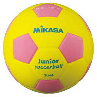 【ミカサ】 スマイルサッカーボール 4号球 [カラー:イエロー×ピンク] #SF4JYP 【スポーツ・アウトドア:サッカー・フットサル:サッカー:ボール】【MIKASA】の画像