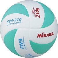 【ミカサ】 バレーボール レッスンバレー4号球 [カラー:ホワイト×ライトグリーン] #SV4210WLG 【スポーツ・アウトドア:バレーボール:ボール:一般球】【MIKASA】の画像